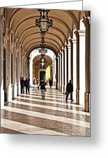 Arcades Of Lisbon Greeting Card