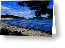 Arcadia Maine Abstract Greeting Card