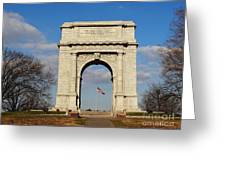 Arch At Valley Forge Greeting Card