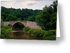 Arch Bridge Across Casselman River Greeting Card
