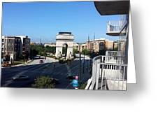 Arch Morning View Greeting Card