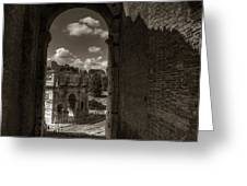 Arch Of Constantine From The Colosseum Greeting Card
