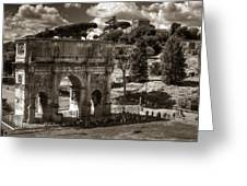 Arch Of Contantine Greeting Card