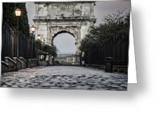 Arch Of Titus Morning Glow Greeting Card