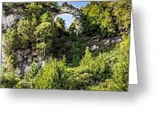 Arch Rock Mackinac Island Michigan Greeting Card