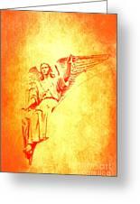 Archangel Michael  Greeting Card by Lali Kacharava