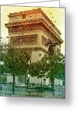 Arche De Triomphe Mood Greeting Card