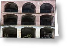 Arched Brick Portals Fort Point San Francisco Greeting Card