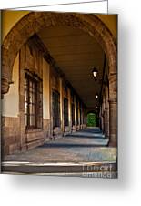 Arched Corridor Greeting Card
