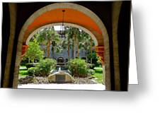 Arched Courtyard Greeting Card