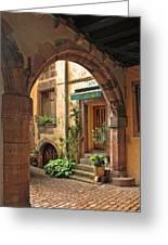 Arched Doorway In Kayserberg Greeting Card