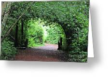 Arched Pathway Greeting Card by Melissa Stinson-Borg