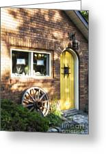 Arched Yellow Door Greeting Card