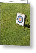 Archery Round Target On A Stand Greeting Card