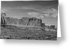Arches 1 Panorama Bw Greeting Card
