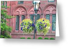 Arches And Potted Plants Greeting Card