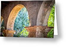 Arches At Mission San Juan Capistrano Greeting Card