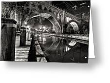 Arches At Night. Greeting Card