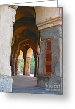 Arches At Red Fort Greeting Card