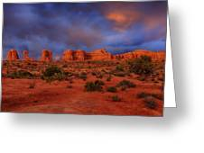 Arches Last Light Greeting Card by Greg Norrell