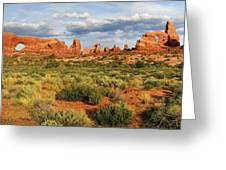 Arches National Park Panorama Greeting Card