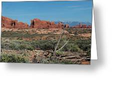 Arches North Window Rock Greeting Card