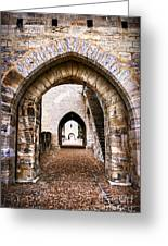 Arches Of Valentre Bridge In Cahors France Greeting Card