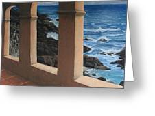 Arches Over The Ocean Greeting Card