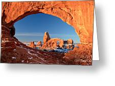 Arches Window Frame Greeting Card