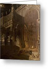 Architectural Fantasy With Figures Greeting Card by Stefano Orlandi
