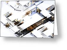Architecture Abstract Greeting Card