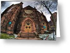 Architecture And Places In The Q.c. Series 01 Trinity Episcopal Church Greeting Card