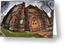Architecture And Places In The Q.c. Series 03 Trinity Episcopal Church Greeting Card