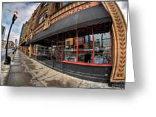 Architecture And Places In The Q.c. Series Bacchus Restaurant Greeting Card