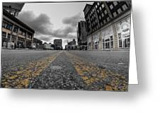 Architecture And Places In The Q.c. Series Delaware And Chippewa Greeting Card