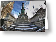 Architecture And Places In The Q.c. Series  Soldiers And Sailors Monument In Lafayette Square Greeting Card
