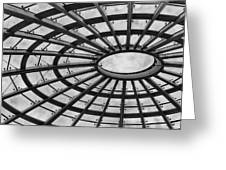 Architecture Ceiling In Black And White Greeting Card
