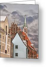 Architecture In Riga Latvia Greeting Card