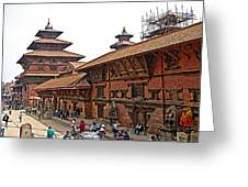 Architecture Of Patan Durbar Square In Lalitpur-nepal Greeting Card