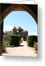 Archway Chateau Of Berze Greeting Card