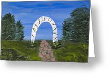 Archway Greeting Card by Melissa Dawn