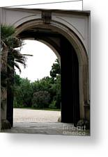 Archway Pillnitz Castle Greeting Card