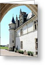 Archway View Chateau Amboise Greeting Card