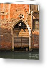 Archway With Bird In Venice Greeting Card
