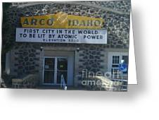 Arco Greeting Card by Jeff Pickett
