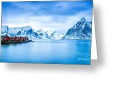 Arctic Dawn Lofoten Islands Greeting Card