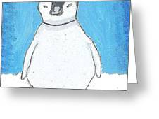 Arctic Penguin Greeting Card by Fred Hanna