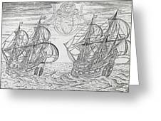 Arctic Phenomena From Gerrit De Veer S Description Of His Voyages Amsterdam 1600 Greeting Card