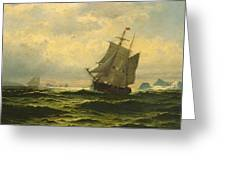 Arctic Whalers Homeward Bound Greeting Card
