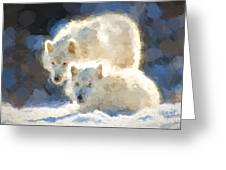 Arctic Wolves - Painterly Greeting Card